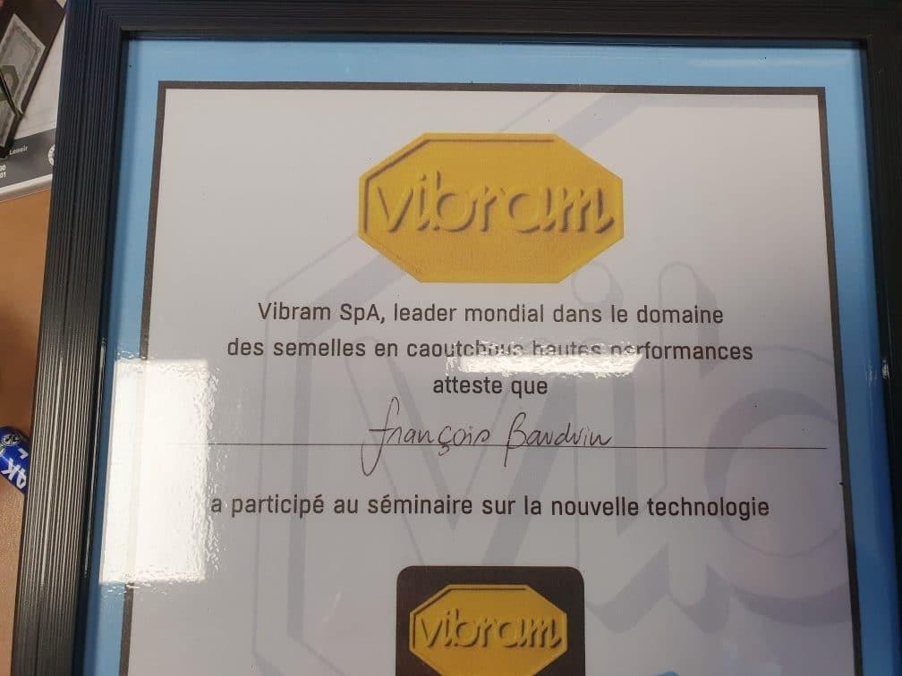 Certificat Vibram